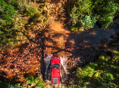 Down by the River. (God_speed) Tags: park new trip travel sunlight wheel wales creek river outdoors four daylight day driving crossing 4x4 south great sydney australia off adventure national nsw fjord walls boyd kanangra roading kowmung