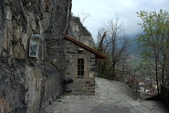 chapelle du Scex (bulbocode909) Tags: suisse vert arbres printemps brume valais chapelleduscexstmaurice
