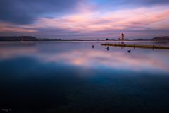 Serenity (Tony N.) Tags: longexposure lake pier lac ponton boues poselongue eaudheure froidchapelle