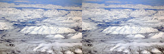 Eastern Siberia 3D, plate 2 (Sergei Golyshev (is back)) Tags: winter snow mountains ice nature river circle airplane landscape photography 3d crosseye russia pair north canyon aerial arctic siberia polar eastern depth volume       stere       chersrskogo