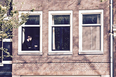 Smoke break (RosLol) Tags: street windows boy netherlands amsterdam relax break candid smoke olanda ragazzo finestre sigaretta pausa roslol