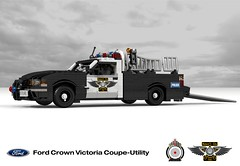 Ford Crown Victoria Coupe-Utility Concept (lego911) Tags: auto bw usa ford car modern america model lego render police australia utility pickup victoria ute smell frame falcon crown 102 concept 2008 coupe challenge v8 cad lugnuts fg povray 2000s moc bof ldd miniland lego911 pigup coupeutility ismellamodernrat
