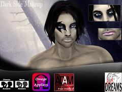Dark Side makeup (mysticdreams0607) Tags: new pink blue black adam dark different omega makeup pale fantasy theme latest lipstick eyeshadow recent hallowee adamavatar
