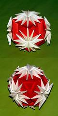 Chrysanthemum Ball (Yasuko Suyama) (De Rode Olifant - slow - due to hand-surgery) Tags: wow paper 3d origami modular paperfolding diagrams tomokofuse chrysanthemumball yasukosuyama marjansmeijsters noa263