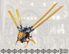 Clockwork Sinek (without stand) (burningblocks) Tags: robot lego empire ottoman middle eastern mech steampunk moc