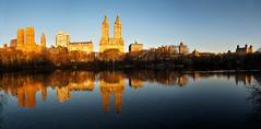 New York sunrise (alf.branch) Tags: panorama newyork reflection water sunshine sunrise landscape olympus zuiko refelections olympusomdem5mkii ziuko918mmf4056ed