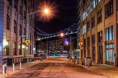 Main Street (karinavera) Tags: street city longexposure travel bridge urban brooklyn night view manhattan main frame exploration nikond5300