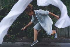 fight or flight (elliftheartist) Tags: white selfportrait fashion outdoors levitation style whimsical storytelling fineartphotography streetstyle surrealphotography conceptualphotography elliftheartist