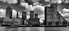 It's mushroom season in London and a bankers' banquette ;) (lunaryuna (off to Iceland for 2 weeks)) Tags: uk sky bw panorama london monochrome weather thames skyline architecture river season blackwhite spring britain docklands lunaryuna riverthames modernarchitecture cloudscape urbanlandscape thamesclipper seasonalwonders bankersbanquette