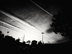 Highway in the sky (frankrowland78) Tags: sunset sky blackandwhite monochrome losangeles silverlake