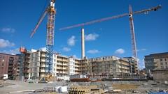 Dalnum (skumroffe) Tags: construction sweden stockholm baustelle cranes constructionsite jm liding aga bygge gruas liebherr grues kranar dalenum dalnum