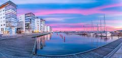 """Helsingborg, """"Norra hamnen"""" (joachim.andersson.hbg) Tags: city pink house seascape water boat skåne colorful ship sweden harbour vivid sverige share helsingborg"""