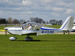 G-CERE Cosmik Aviation EV-97 TeamEurostar UK cn 2931 Sywell 23Apr16 (kerrydavidtaylor) Tags: eurostar ev97 aerotechnik