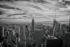 A view from Top of the Rock (helen.lindholm) Tags: new york nyc building blackwhite state manhattan empire topoftherock