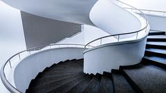 modern architecture (K.H.Reichert) Tags: architecture stairs spiral curves poland treppe polen architektur highkey spiralstaircase szczecin philharmonie architectur kurven wendeltreppe wojewdztwozachodniopomorskie