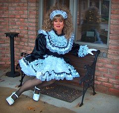 Bliss (jensatin4242) Tags: sissy transvestite satin maid crossdresser frilly sissymaid jensatin