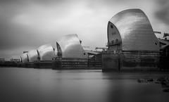 Flood Gates (Robgreen13) Tags: uk longexposure bw london mono cityscape tide greenwich riverthames stopper thamesbarrier charlton ndfilters flooddefence