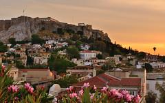 Sunset on the Acropolis, Athens, Greeece (Alona Azaria) Tags: sunset athens greece plaka acropolis 2470mmf28 nikond800