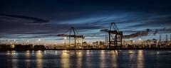 Amazonehaven, Maasvlakte. (paulvoestermans) Tags: haven harbor rotterdam maasvlakte nightspot nachtopname