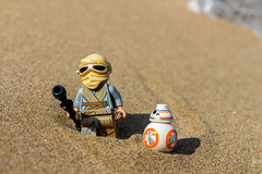 Rey and BB-8 (Ballou34) Tags: canon toy toys photography eos rebel star starwars sand flickr force lego stuck 7 plastic rey planet wars afol 2016 awakens sw7 minifigures toyphotography 650d t4i bb8 eos650d legography rebelt4i legographer stuckinplastic ballou34