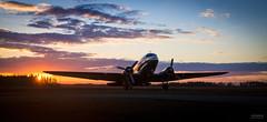 DC-3 Airveteran OH-LCH (>>Marko<<) Tags: sunset plane canon suomi finland aviation aeroplane company whitney finnish douglas airlines dc3 aero joensuu pratt lentokone donnell airveteran ohlch aircraf valokuvaus vehile onttola