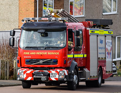 NK59EXO (firepicx) Tags: uk rescue fire engine northumberland service british brigade nk59exo