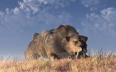Saber-Toothed Hunter (deskridge) Tags: monster fauna iceage cat mammal ancient fierce wildlife diego bigcat beast hunter predator creature prehistoric extinct fang hunt sabertooth carnivore predatory smilodon sabretoothed sabretooth pleistocene primeval eskridge fatalis paleoart danieleskridge sabertoothart sabretoothart prehistorictheme prehistoricthemed sabertoothedhunter
