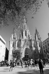 La Catedral (Photoz Darkly) Tags: barcelona blackandwhite bw monochrome blackwhite spain espana