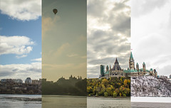 Four Seasons in Ottawa (thesweetwoods) Tags: winter summer ontario canada fall clouds sunrise spring nikon ottawa parliament hotairballoon parliamenthill d5100 nikond5100