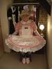 sissy barbie in maid's bedroom (sissybarbie1066) Tags: sissy maid servants quarters bedroom curtsey baby pink satin white trim sissymaid