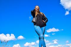 Kim Lobbezoo 17 (M van Oosterhout) Tags: portrait people woman sun lake holland cute netherlands girl beautiful face fashion female clouds model pretty photoshoot modeling stunning editorial