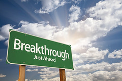 Breakthrough Green Road Sign (Wonder woman0731) Tags: road sky abstract green sign clouds way idea message post notice perspective progress billboard direction roadsign signpost choice concept innovation conceptual crossroads breakthrough discovery success development improvement guidepost motivational headway greensign greenroadsign