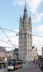 Gent (Neil Pulling) Tags: belgium belgique tram belfry ghent gent gand belfort flanders pcc delijn vlaanderen beffroi pcctram