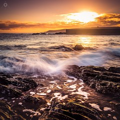 What's the Story? (Augmented Reality Images (Getty Contributor)) Tags: longexposure morning light sun seascape water clouds sunrise canon landscape dawn scotland seaside rocks waves aberdeenshire tide coastline moray leefilters