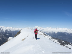 Mountain Ridge Walk (AG_Alex) Tags: italy mountain snow ski tree pine photography skiing ridge snowboard aosta pila