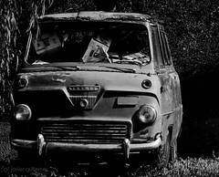 Out of service [Explored] (gjaviergutierrezb) Tags: bw white black abandoned thames truck