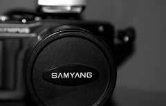 Samyang and Olympus. (CWhatPhotos) Tags: pictures camera digital that lens four photo foto image photos picture olympus images equipment have cap cover cameras fotos which own contain 43 thirds mkii samyang syst esystem cwhatphotos epl5