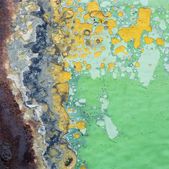 Paint and Rust (Vicente Mercado) Tags: street brown abstract verde green caf yellow metal mxico calle rust paint place weld oxido amarillo abstracto lugar pintura pintar solder clouseup acercamiento soldadura soldar macromondays macromonday beginswiththeletterp