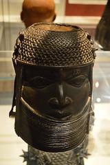 cast brass head of an Oba, Benin, Nigeria (Mr. Russell) Tags: africa england london head nigeria benin britishmuseum brass oba