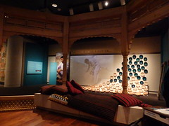 Turquoise Mountain exhibit at the Sackler Gallery (dlge) Tags: afghanistan washingtondc woodwork crafts pottery museums cushions sacklergallery turquoisemountain