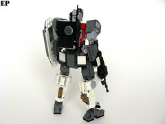 "MCS-021A ""Aardwolf II"" Main Combat System (ExclusivelyPlastic) Tags: robot lego military scifi grunt mecha mech gundamish"