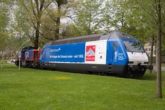 SBB Re 460 079 Credit Suisse / Gottardo2016 in Luzern Verkehrshaus (eisenbahnfans.ch) Tags: luzern cs creditsuisse re460 verkehrshaus sbbcffffs werbelok sbbcargo am843 460079 gottardo2016 lzvh 843073