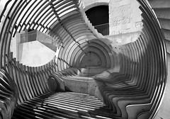 Concentric (albireo 2006) Tags: blackandwhite bw sculpture blackwhite circles malta pb nb bn valletta blackandwhitephotos blackwhitephotos v18 valletta2018