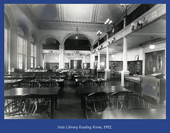 State Library Reading Room, 1952 (State Library of Massachusetts) Tags: bostonmassachusetts massachusettsstatehouse massachusettslegislature statelibraryofmassachusetts