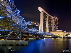 The Helix Bridge | Marina Bay Sands (manmetalz21) Tags: longexposure bridge marina canon bay singapore long exposure helix sands helixbridge canon60d marinabaysands
