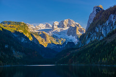 Gosausee (rio.gappmaier) Tags: schnee autumn mountain berg austria see colours herbst gletscher dachstein obersterreich farben gosau upperaustria gosausee vorderergosausee sonyalpha6000