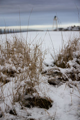 Silloth in the Snow (The Crewe Chronicler) Tags: uk winter sea lighthouse grass canon coast seaside shore cumbria silloth 60d canon60d sillothonsolway