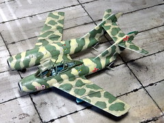 1:72 Atanasov ' (Bliznak)' BAMiG-15MT, aircraft '38 White' of the 3rd Squadron, 22nd Fighter Air Regiment, Bulgarian Air Force ( ), Bezmer Air Base, summer 1964 (Whif/Hobby Boss kit bashing) (dizzyfugu) Tags: boss cold weird model war fighter mt force conversion aviation air twin nuclear hobby bulgaria kit bomber fictional bulgarian whatif modellbau mig15 zwilling vk1 fagot bliznak whif tolbukhin bezmer atanasow atanasov  dizzyfugu  iab500