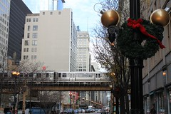 On the surface (barbariskiss) Tags: christmas travel chicago train subway illinois metro decoration traveling