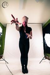 Studio Zombie (jesse_tomasello) Tags: blackandwhite canon studio eos crazy blood knife tattoos psycho horror 5d bandages jtomasellophotography
